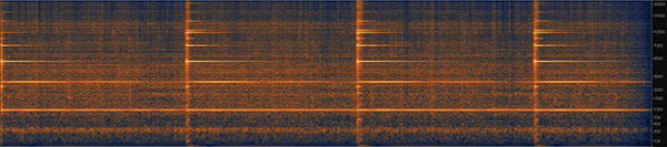Spectrogram of a clock