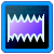 The Distort badge from the Compose with Sounds software.